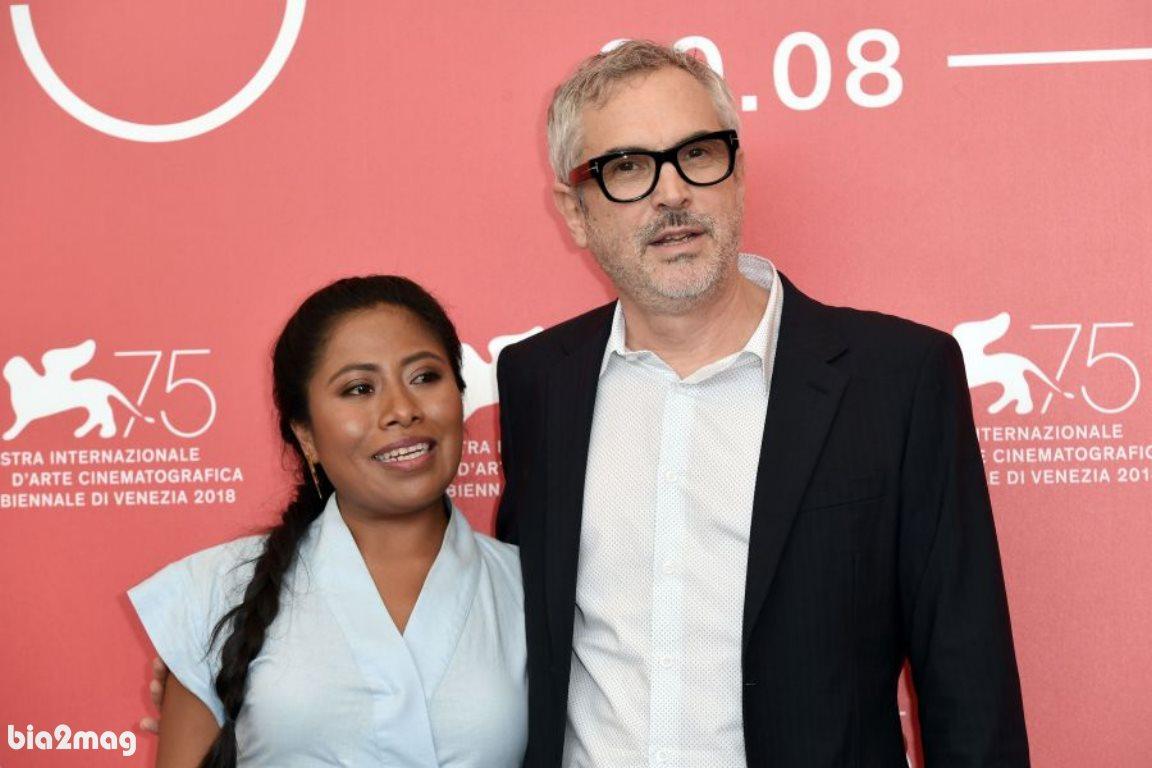 آلفونسو کوآرون و یالیتزا آپاریسیو - جشنواره فیلم ونیز 2018