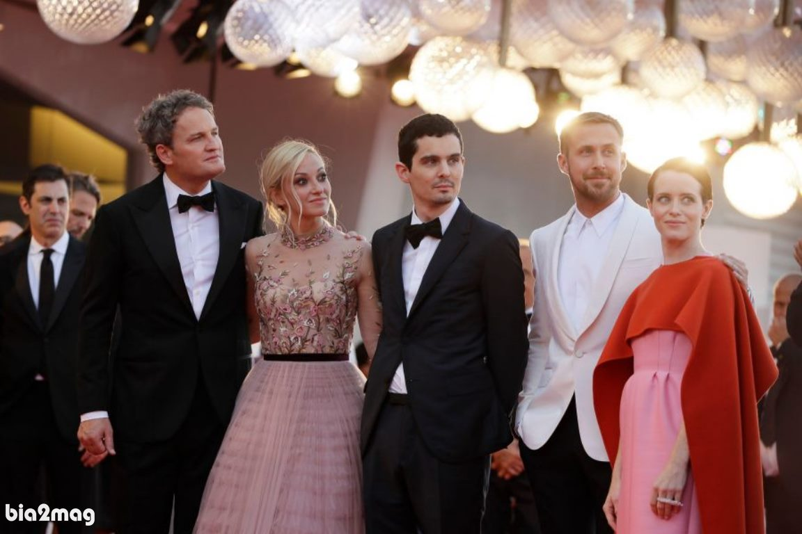 کلیر فوی، رایان گازلینگ، دیمن چزل، اولیویا همیلتون و جیسون کلارک - جشنواره فیلم ونیز 2018