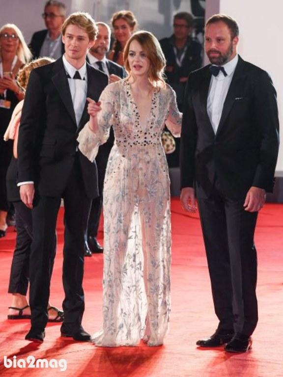 یورگوس لنتیموس، اما استون و جو آلوواین - جشنواره فیلم ونیز 2018