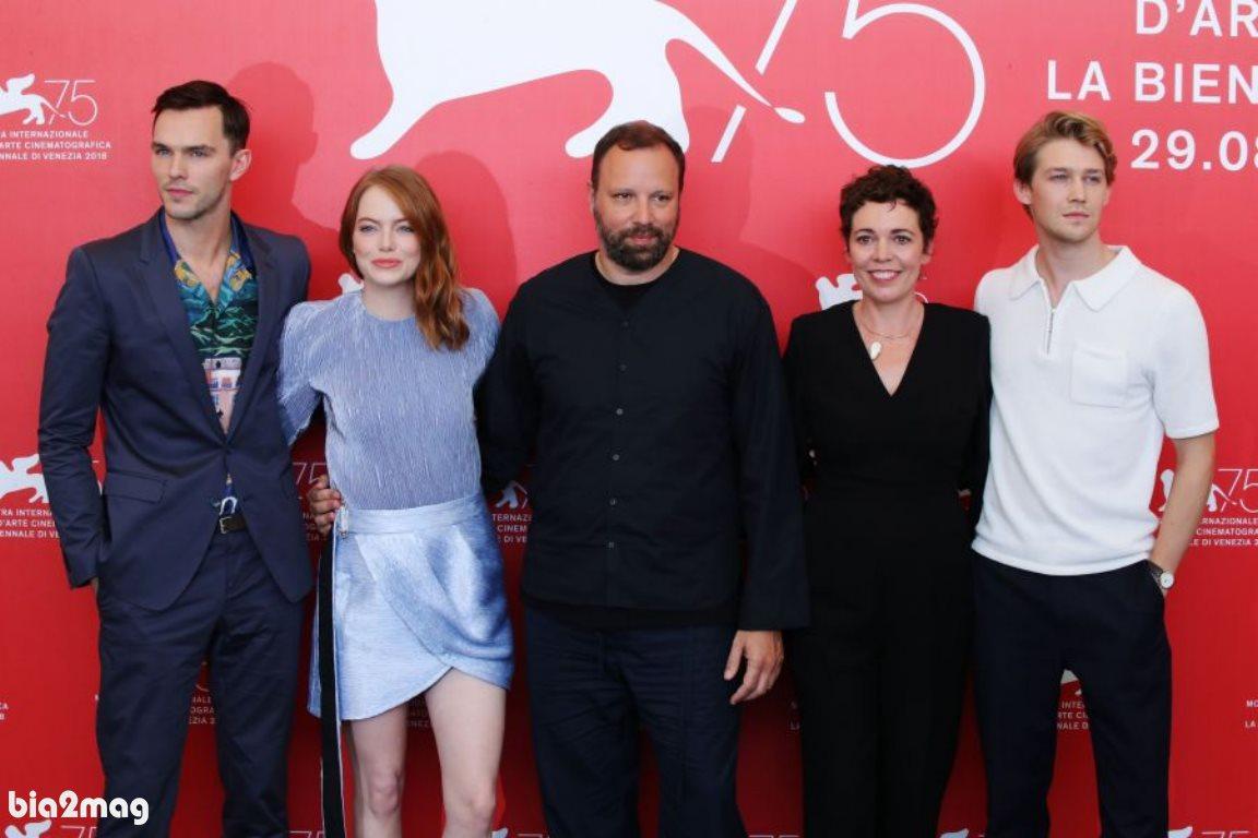 جو آلوواین، اولیویا کولمن، یورگوس لنتیموس، اما استون و نیکولاس هولت - جشنواره فیلم ونیز 2018
