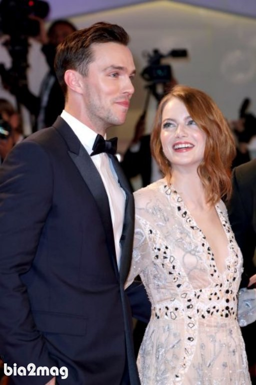 اما استون و نیکولاس هولت - جشنواره فیلم ونیز 2018