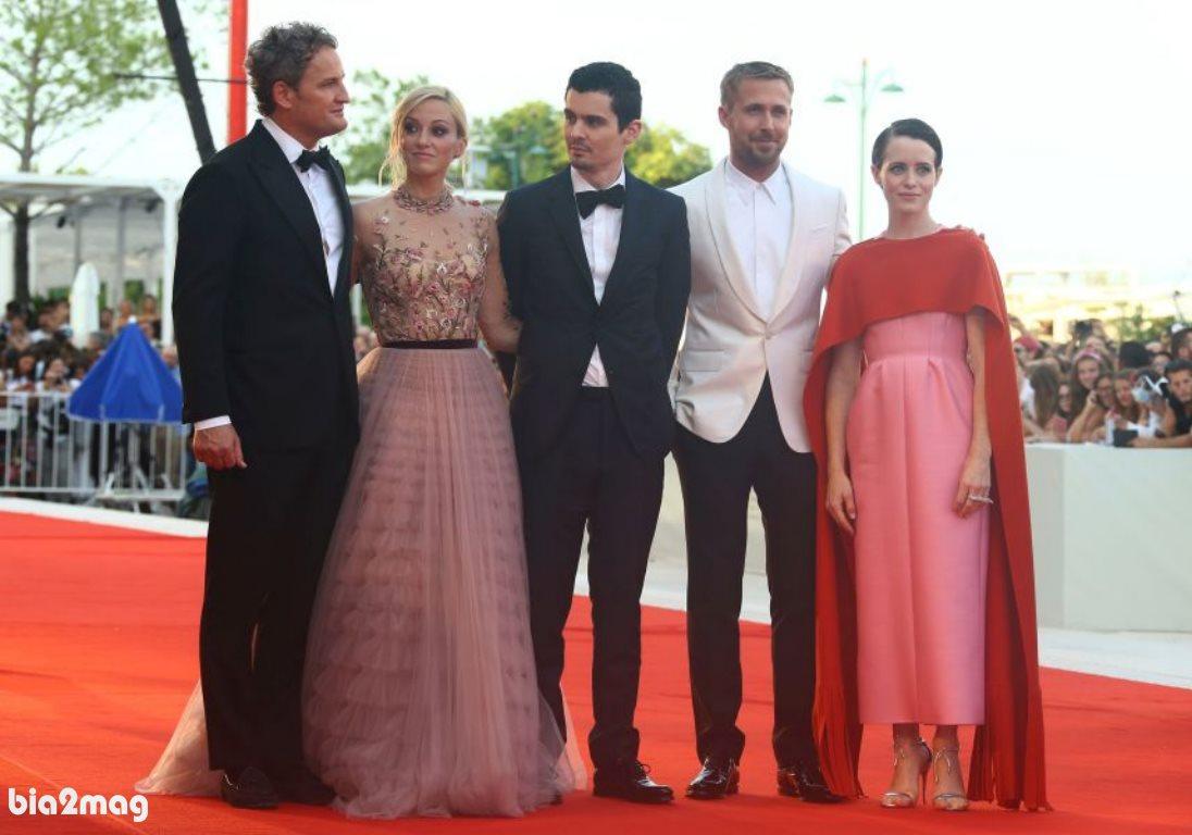 کلیر فوی، رایان گازلینگ، دیمین چزل، اولیویا همیلتون و جیسون کلارک - جشنواره فیلم ونیز 2018